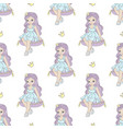 pillow princess fairy tale seamless pattern vector image