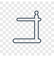 pull up bar concept linear icon isolated on vector image