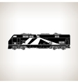 Rail Transport Vehicle on Light Background vector image vector image