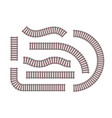 rails - set of modern objects vector image vector image