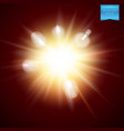realistic fiery explosive burst light effect vector image vector image