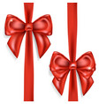 red bows isolated on white background vector image vector image