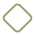 rope frame diamond vector image