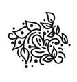 scandinavian monoline flourish monogram vector image vector image