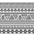 seamless pattern with black and white hand vector image
