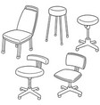 set of chair vector image vector image
