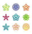 set of colorful editable symbols geometric shapes vector image