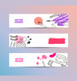 set of cosmetics banners horizontal vector image