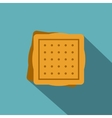 Square cookies icon flat style vector image vector image