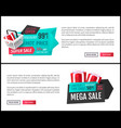 super sale 50 percent off best offer banner vector image vector image