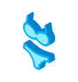 swimming suit isometric icon vector image vector image