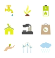 Types of energy icons set flat style vector image vector image
