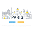 Website Banner and Landing Page Paris vector image vector image
