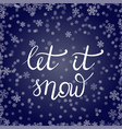 winter lettering on blue snowflakes background vector image vector image
