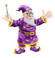 wizard with wand vector image vector image