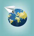 Around The World Flat Icon vector image