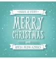 Greeting Card Merry Christmas lettering vector image