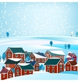02 City winter landscape vector image vector image