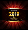 2019 golden new year sign vector image vector image