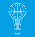 aerostat balloon icon outline style vector image vector image