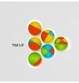 Arrow next colorful concept vector image