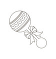 baby beanbag vector image vector image