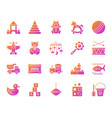 baby toy simple gradient icons set vector image vector image
