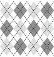 black and gray trendy argyle seamless pattern vector image