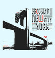 brooklyn new york city t-shirt print design vector image