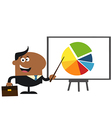 Businessman Pointing to a Board vector image vector image