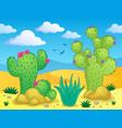 cactus theme image 2 vector image