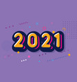 cartoon 2021 happy new year funni card for vector image vector image