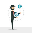 cartoon businessman design concept vector image