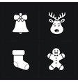 Christmas color icons collection vector image vector image