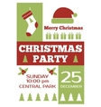 Christmas party invitation poster flyer vector image vector image
