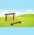 climbing equipment in playground vector image