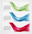 Collection banners modern wave design Colorful vector image vector image