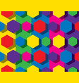 colorful hexagonal pattern vector image vector image