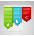 different color labels with many text vector image vector image