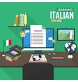 E-learning Italian language vector image vector image