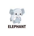 elephant thump up mascot character logo icon vector image vector image