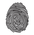 Finger print vector image vector image