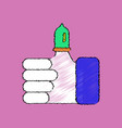 flat shading style icon condom on finger vector image vector image