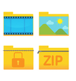 Folder Icon Design Style Set vector image