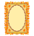 Frame with autumn leaves rowan and maple vector image vector image