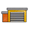 garage isolated symbol vector image vector image