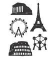 Grunge famous european building vector image
