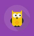 Halloween Flat Icon Owl vector image vector image
