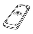 handphone icon doodle hand drawn or outline icon vector image