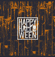 happy halloween holiday card 31 of october vector image vector image